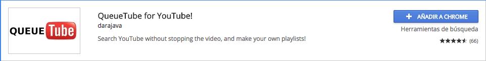 QueueTube extensión para descargar videos o canciones