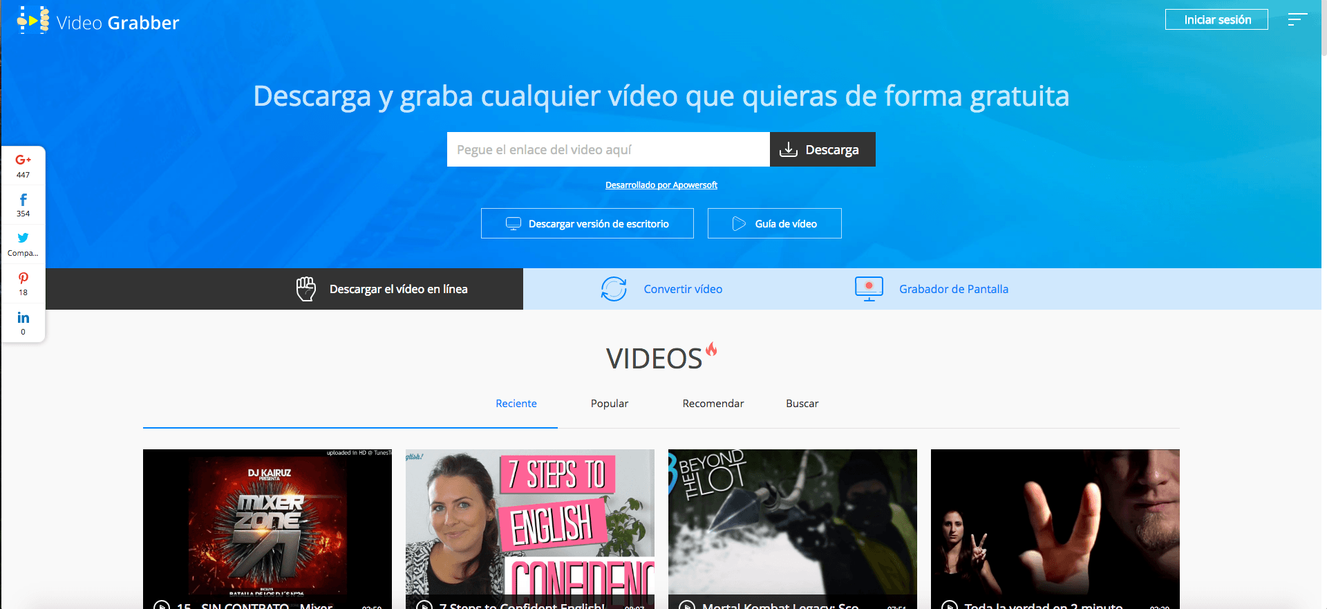 VideoGrabber descargar videos de youtube