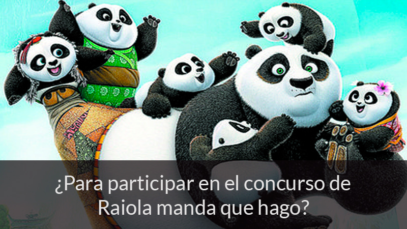 ¿Para participar en el concurso de Raiola manda que hago?