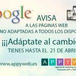 GOOGLE AVISA A LAS PÁGINAS WEB NO ADAPTADAS A TODOS LOS DISPOSITIVOS