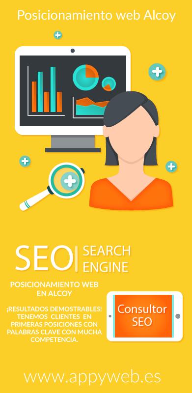 SEO posicionamiento web en buscadores local Alcoy.