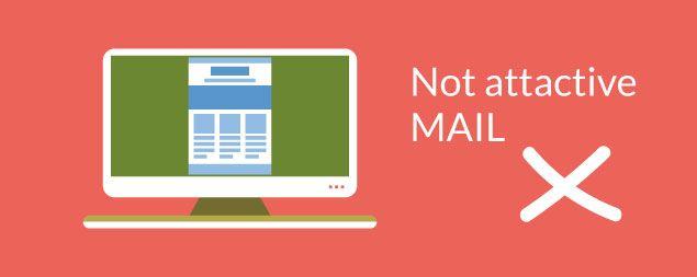 Diseñar mal el correo electrónico