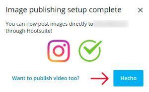 Al terminar la sincronización puedes empezar a gestionar tu Instagram