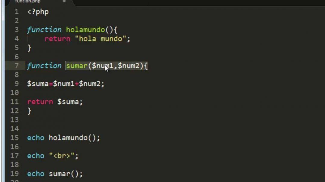 funcion php ejemplo